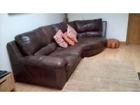 Corner leather sofa for sale.