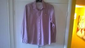 Men's Casual Shirt by George Pink Stripes size Large