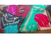 Belly dance scarf, hip scarf and jewellery