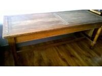 antique solid oak refectory table