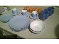 classic Melmex set of crockery, melamine, ideal camping