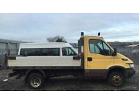 06) Reg Iveco Daily 35C14 MWB Tipper with small crane