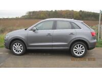AUDI Q3 QUATTRO 2.OL TDI. SAT NAV. LEATHER, AUTOMATIC. IMMACULATE. JUST SERVICED AND 4 NEW TYRES.