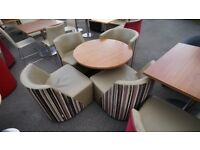CATERING QUALITY FURNITURE IN EXELL CONDITION , IDEAL FOR CAFES, RESTAURANTS,GYMS,CANTEENS ,OFFICES