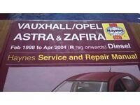 Haynes Manual MK4 Astra 1.7DTi