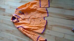 Baisse de prix Blouse orange et mauve 7ans