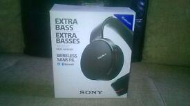 SONY EXTRA BASS WIRELESS BLUE TOOHT HEAD PHONES(MDR-XB950BT)