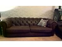 Chesterfield sofa, soft leather. House move forces sale. As new, was £1500, now £600. 3 to 4 seater.