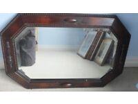 Mirror with wooden surround