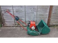 SUFFOLK COLT PETROL CYLINDER LAWNMOWER SELF PROPELLED WITH REAR ROLLER
