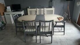 Table and six chairs - small project for someone - Table is a stag make