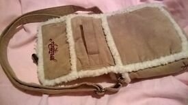 DESIGNER LABEL 'ANIMAL' light tan colour with a white trim. £5 NO OFFERS PLEASE