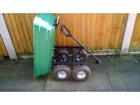 Garden tipper trolley