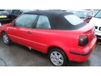 volkswagen golf convertable 1.8 petrol parts from a 2000 car red