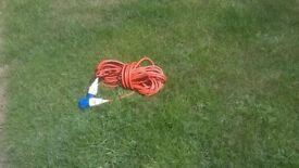 Boat / Camping etc Mains Hookup approx 70-75ft
