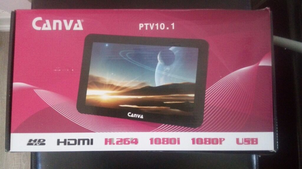 Canva ptv10.1 flatscreen led hd freeview, usb tv lkw. Bought for campervan conversion.