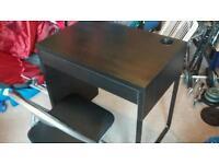 Ikea desk, plus chair