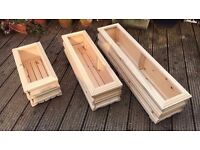 Garden Trough or Herb Planter on feet - Hand made - Small - 50cm long x 23cm wide x 23cm tall