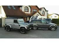 Twisted Defender 90, Rangerover sport HST, Revere London, Oynx, bespoke vehicle, baby SVR, C63, V8