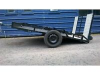 6' 7 X 8' 10 steel framed trailer with plywood floor.