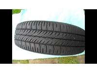 FOUR GOODYEAR TYRES WITH STEEL RIMS