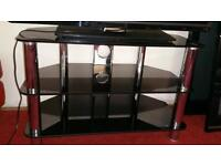 Good condition glass tv stand
