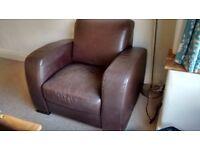Natuzzi Leather arm chair