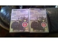 For sale two Farming Simulator 2011 Platinum Edition for PC games.