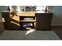 Solid oak tv unit and dvd stand