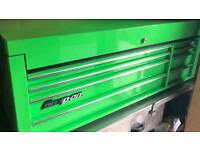 Snap on large tool box tools green KRA5308