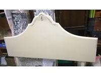 single cream headboard