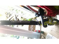 Ryobi OHR1855R hedge trimmer +one system with battery and charger
