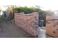 Experienced, fully qualified bricklayer
