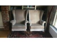 Pair of genuine Parker Knoll wingback chairs
