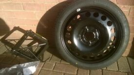 Space saver wheel for Vauxhall Meriva (& Jack)