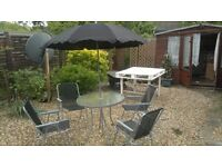 6 Piece Garden Furniture, Patio Set inc. Chairs, Table & Umbrella By Kingfisher