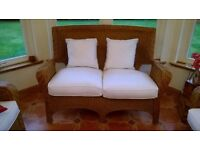 WICKER/CANE SOFA - 3 AVAILABLE AS NEW SUIT SUN ROOM/CONSERVATORY CAN BE SOLD INDIVIDUALLY /TOGETHER