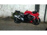 66 reg Hyosung GT125R, in Excellent Condition