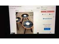 Three handmade retro tables