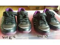 Clarks trainers size 12 1/2 & 10