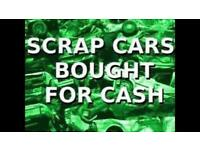 Scrap cars wanted pick up today