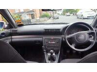 Audi A4, excellent condition, 6 months MOT, low mileage 98k, runs brilliant + Personalized plate