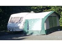 Elddis typhoon gt 4/5 berth with awning not bailey swift tabbert hobby