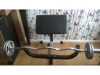 Olympic weights & curl bar