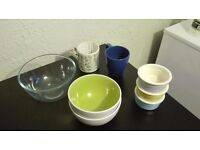 Mugs and Bowls (either to be sold all together or separately)
