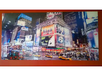 Glass Fronted New York Time Square Picture (~2.5x2ft)