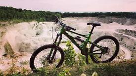 Cube downhill bike.