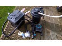 Hozelock pond pump and 12,000 litre UV filter