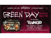 Green Day Hyde Park 1st July Ticket (cheap)