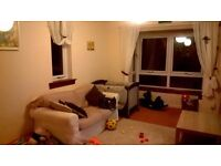 Spacious two bed flat with secure entry and private garage